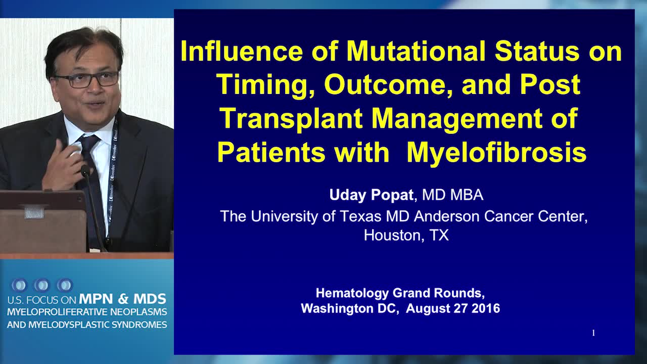 Influence of Mutational Status on Timing, Outcome and Post-transplant Management of MF Patients