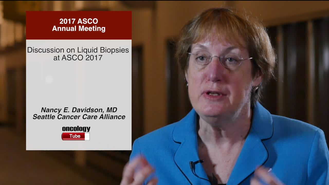 Discussion on Liquid Biopsies at Annual Meeting 2017