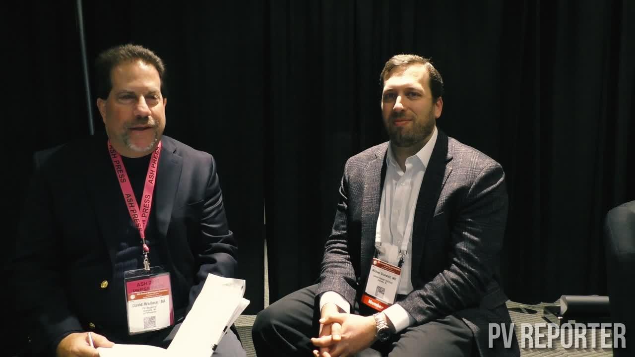 PV Reporter interviews Dr. Michael Grunwald at ASH 2017