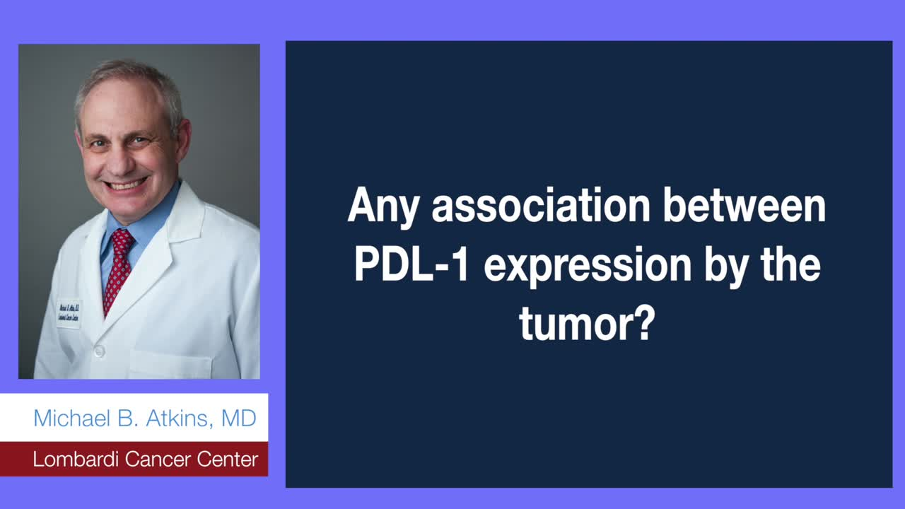Any association between PDL-1 expression by the tumor?