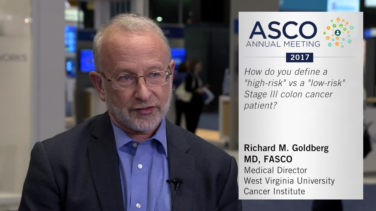 """High-risk"" versus ""low-risk"" stage III colon cancer patients"