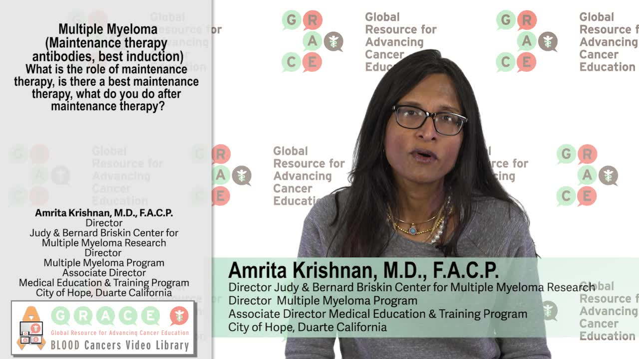 Multiple Myeloma – What is the Role of Maintenance Therapy, What do you do After?
