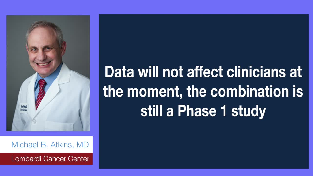Data will not affect clinicians at the moment. Still a Phase 1 study