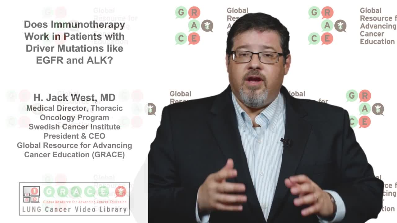 Lung Cancer Video Library - Does Immunotherapy Work in Patients with Driver Mutations