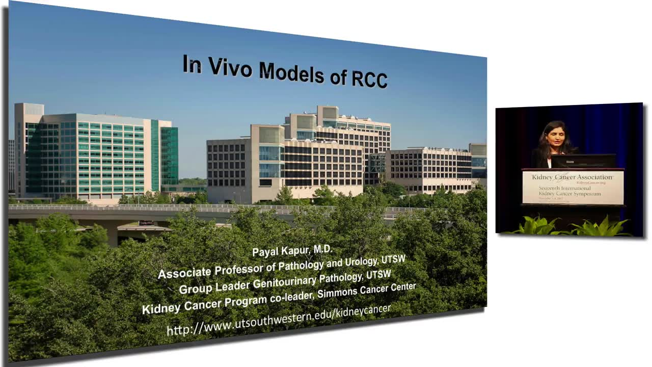In Vivo Models of RCC Genetically engineered mouse models in ccRCC