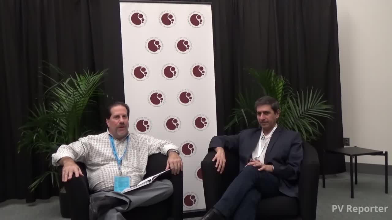 Dr Kiladjian at ASH 2016 with PV Reporter