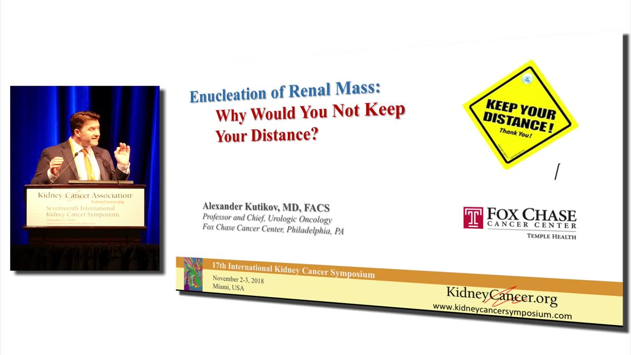 Enucleation of Renal Mass: Why Would You Not Keep Your Distance?
