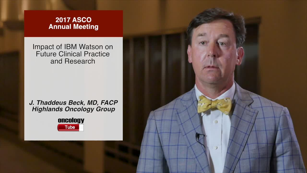 Impact of IBM Watson on Future Clinical Practice and Research