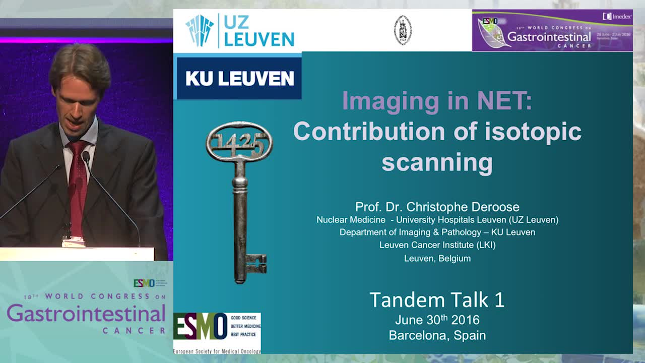 Tandem Talk 1: Imaging in NET - Contribution of isotopic scanning
