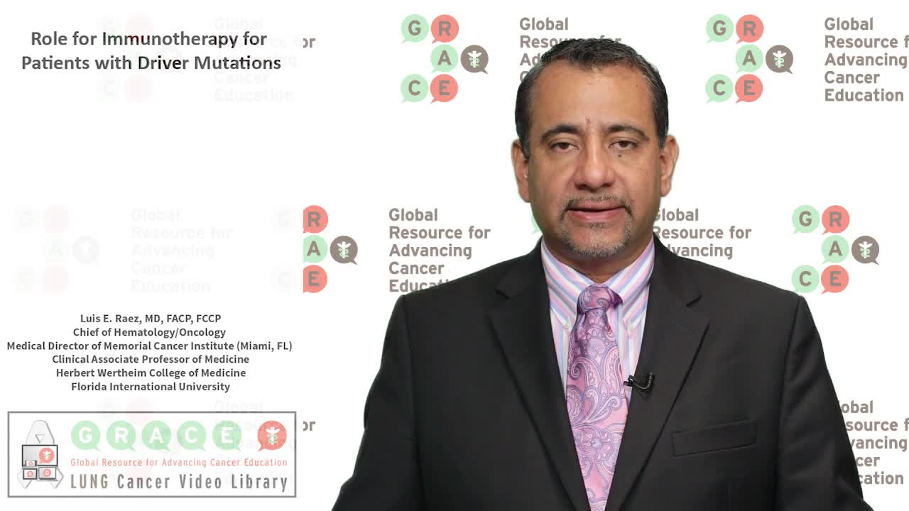 Role for Immunotherapy for Patients with Driver Mutations [720p]