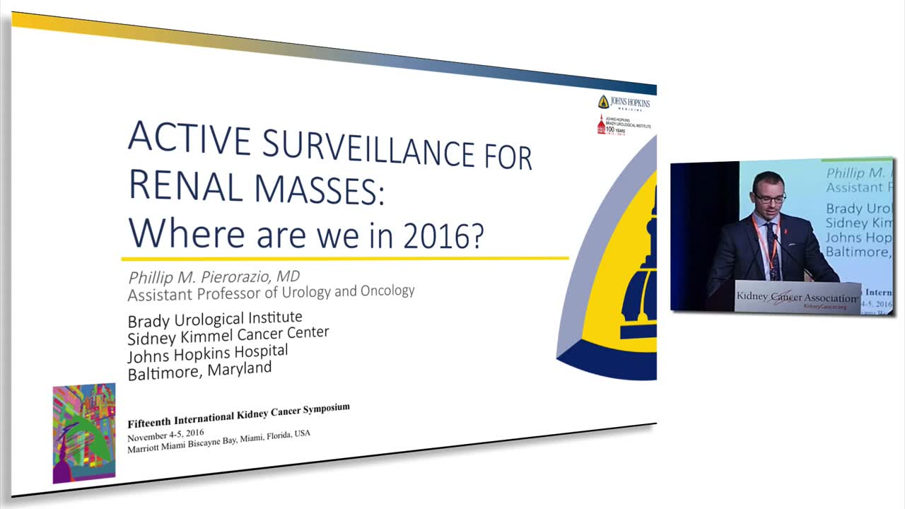Active Surveillance For Renal Masses:  Where Are We In 2016?