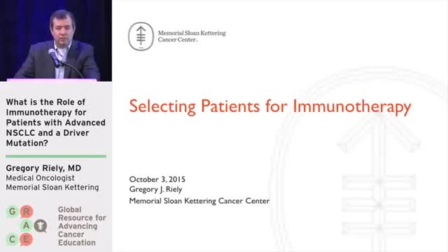 What is the Role of Immunotherapy for Patients with Advanced NSCLC and a Driver Mutation_ [360p]