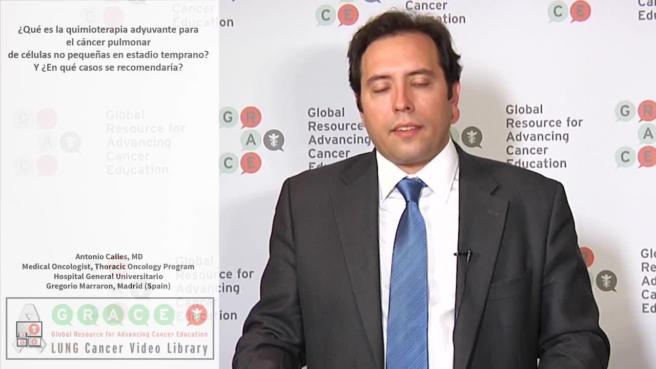 ¿Qué es la quimioterapia adyuvante para el cáncer pulmonar de células no pequeñas en estadio temprano?