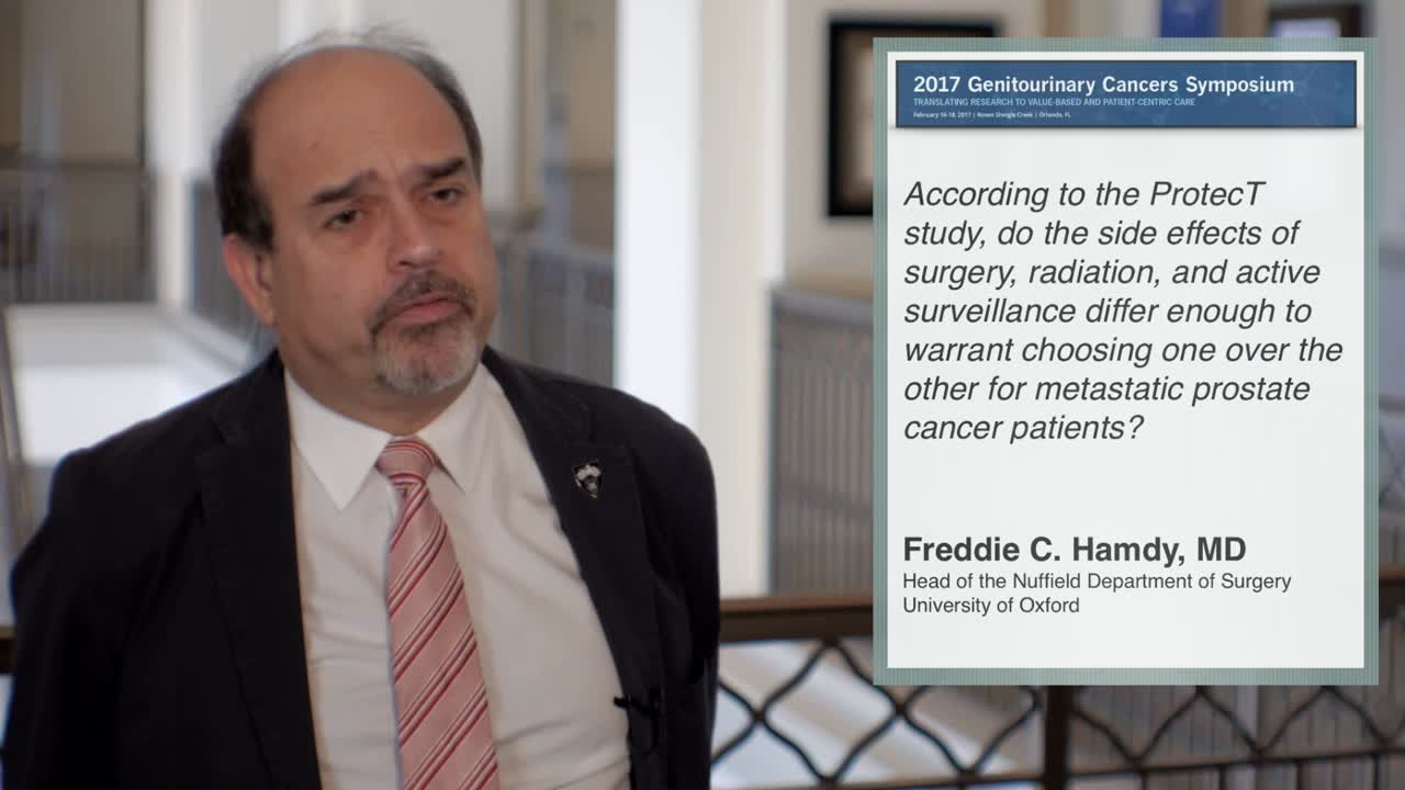 Side Effects of Surgery, Radiation, and Active Surveillance: Choosing One Over the Other for Patients