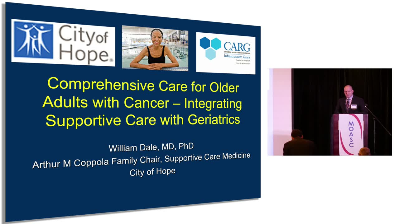 Comprehensive Care For Older Adults With Cancer - Integrating Supportive Care With Geriatrics