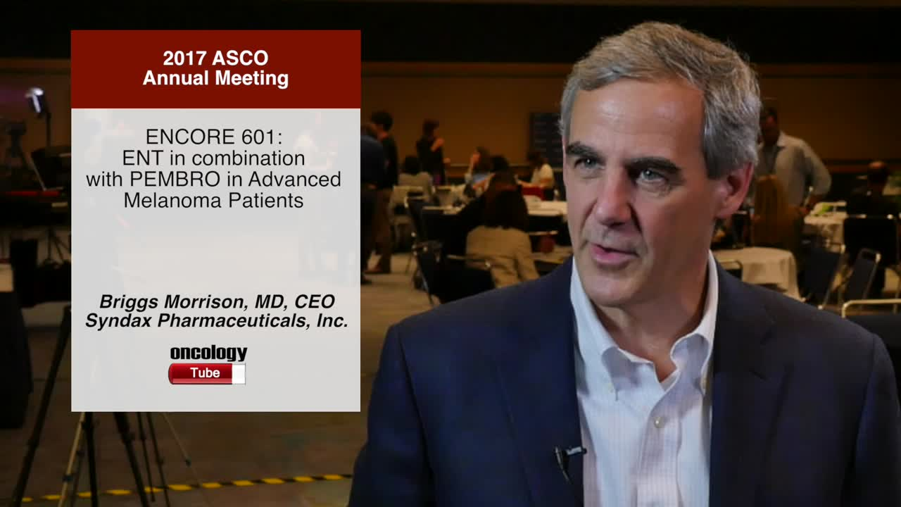ENCORE 601: ENT in combination with PEMBRO in Advanced Melanoma Patients