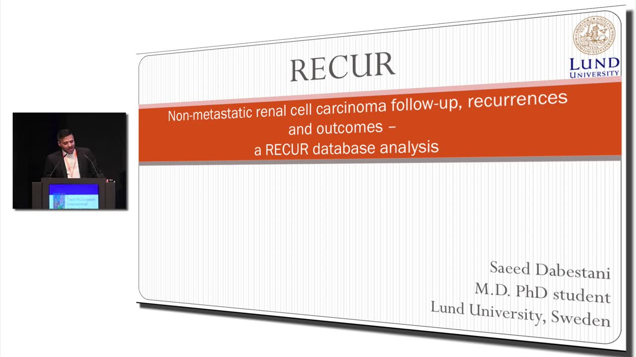 Non-metastatic renal cell carcinoma follow-up, recurrences and outcomes – a RECUR database analysis @KidneyCancer