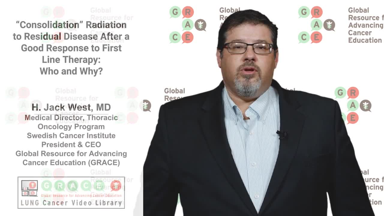 Lung Cancer Video Library - Consolidation Radiation After a Good Response to 1st Line