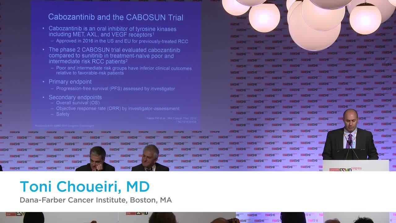 ESMO 2016: Press brief on results of CABOSUN trial cabozantinib compared to sunitinib in RCC