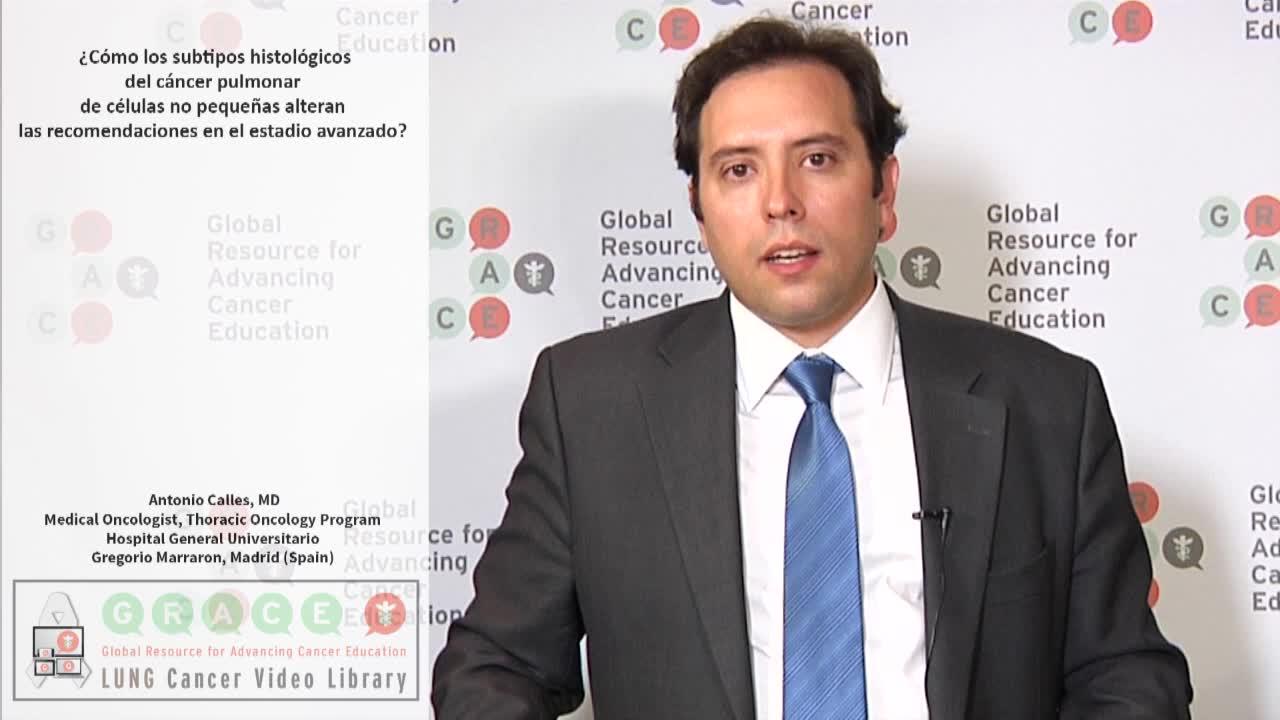 ¿Cómo los subtipos histológicos del cáncer pulmonar de células no pequeñas alteran las recomendaciones en el estadio avanzado?