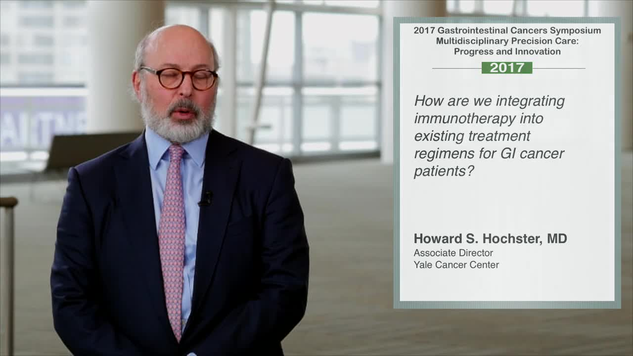 Annual Meeting GI 2017: Immunotherapy in Existing Treatment for GI Cancer Patients