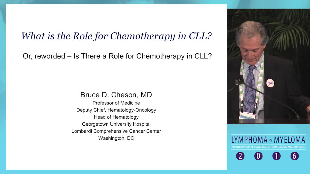 Role of chemotherapy in CLL management