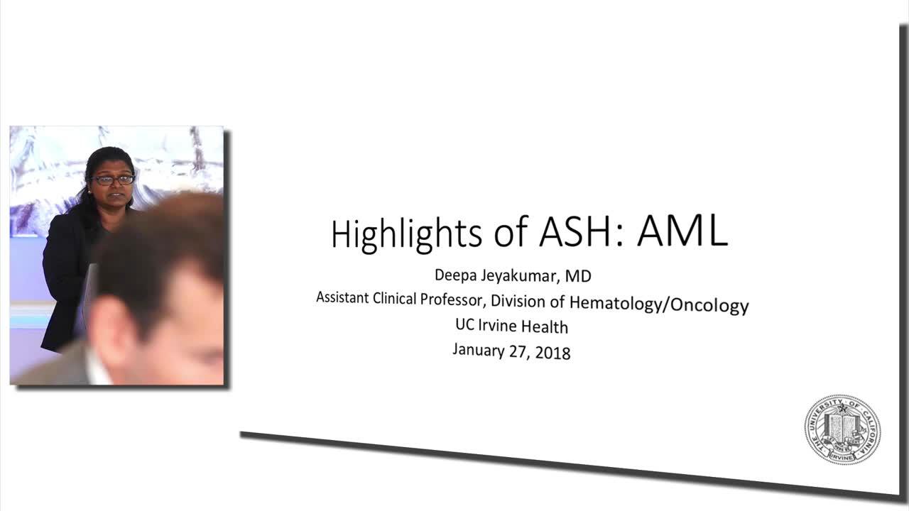 Highlights of ASH 2017: Acute Myeloid Leukemia