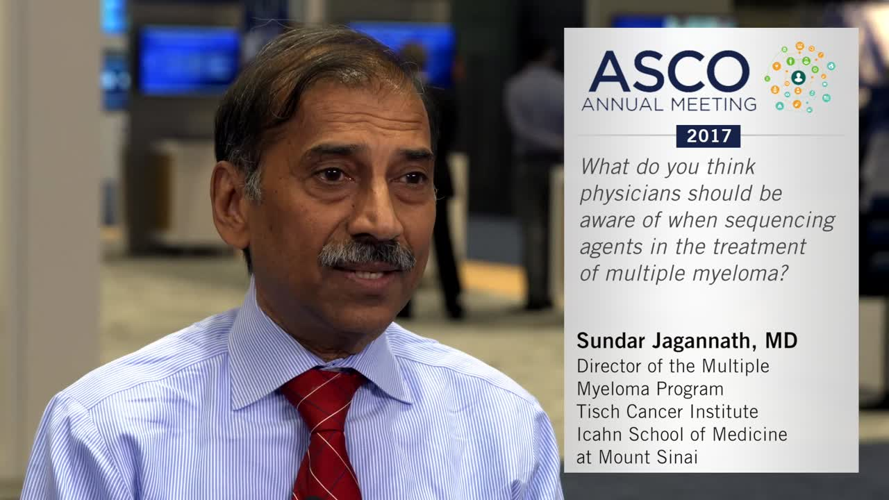 Sequencing agents in the treatment of multiple myeloma