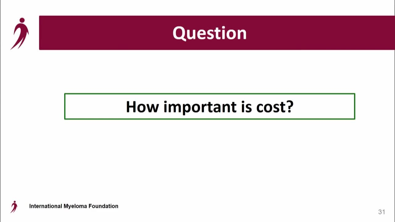 IMWG Conf Series - How Important Is Cost?
