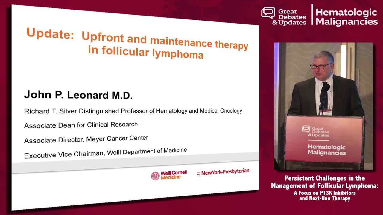 Follicular Lymphoma: Update on Upfront and Maintenance Therapy