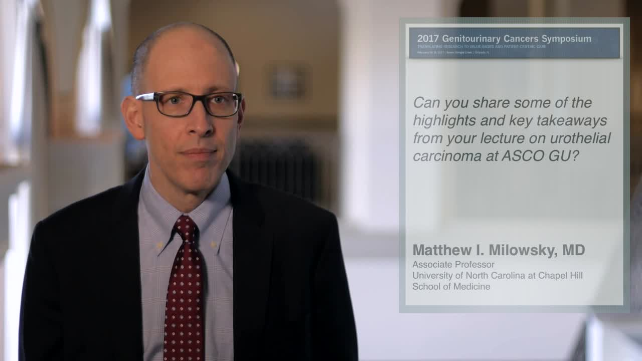 Urothelial Carcinoma: Year in Review