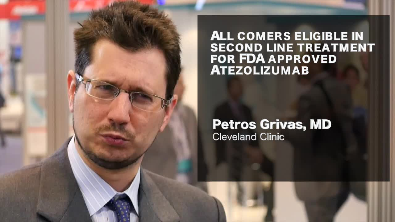All comers are eligible in second line urothelial cancer with Atezolizumab