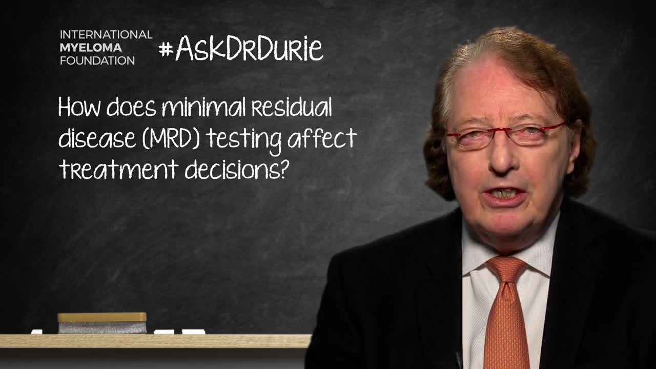ADD-How does minimal residual disease (MRD) testing affect treatment decisions?