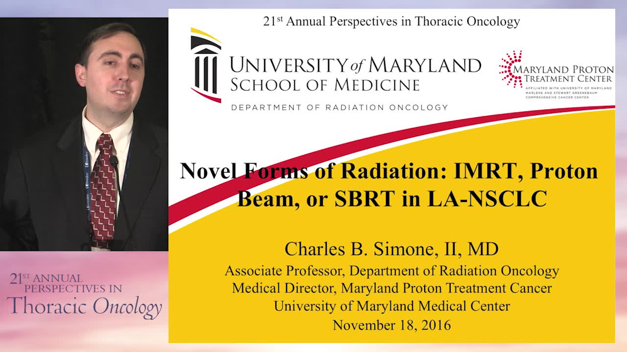 Novel forms of radiation: IMRT, proton beam, or SBRT in LA-NSC