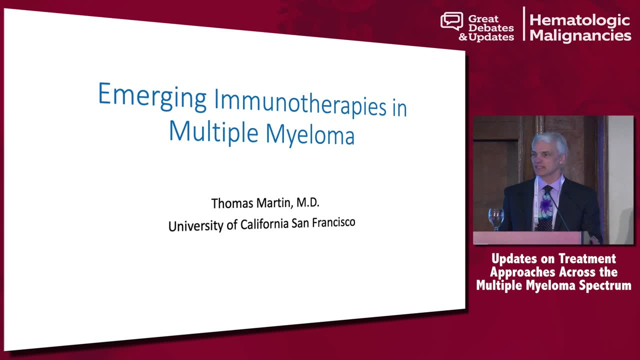 Emerging Immunotherapies in Multiple Myeloma
