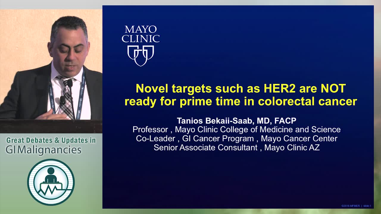 Debate: Are novel targets such as HER2 ready for prime time in colorectal cancer? - No