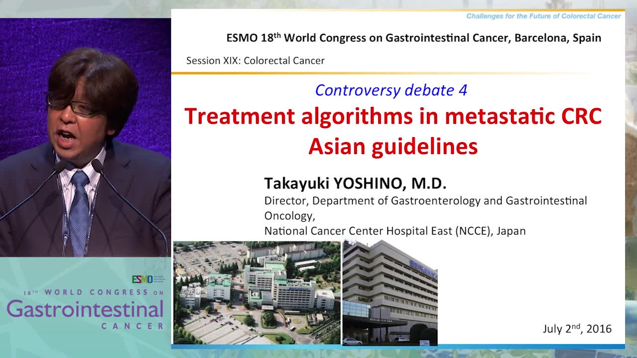 Controversy Debate 4: Treatment algorithms in metastatic CRC - Asian guidelines