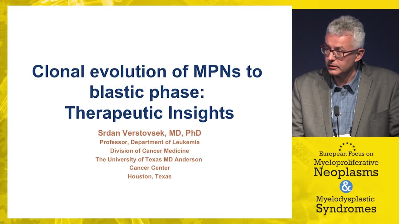 Clonal evolution of MPN to accelerated or blastic phase: Therapeutic insights