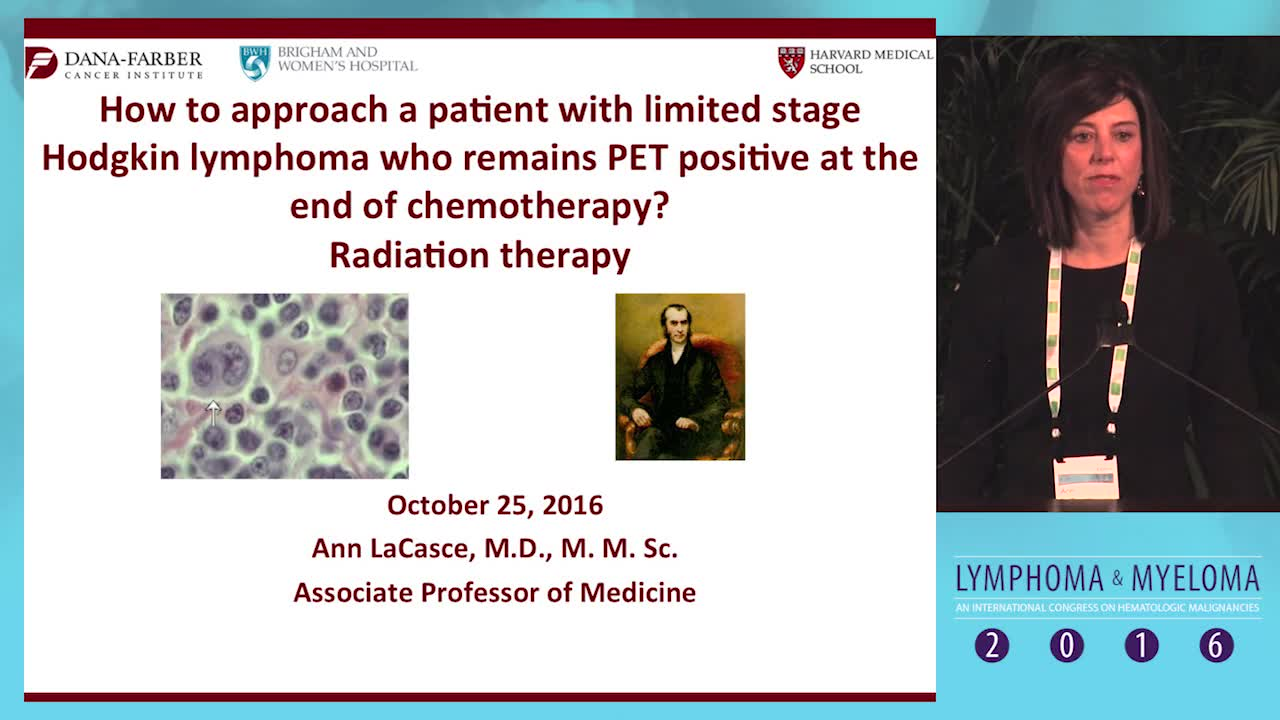 Debate: Limited state Hodgkin lymphoma patient who remains PET+ at the end of chemotherapy - Radiation therapy