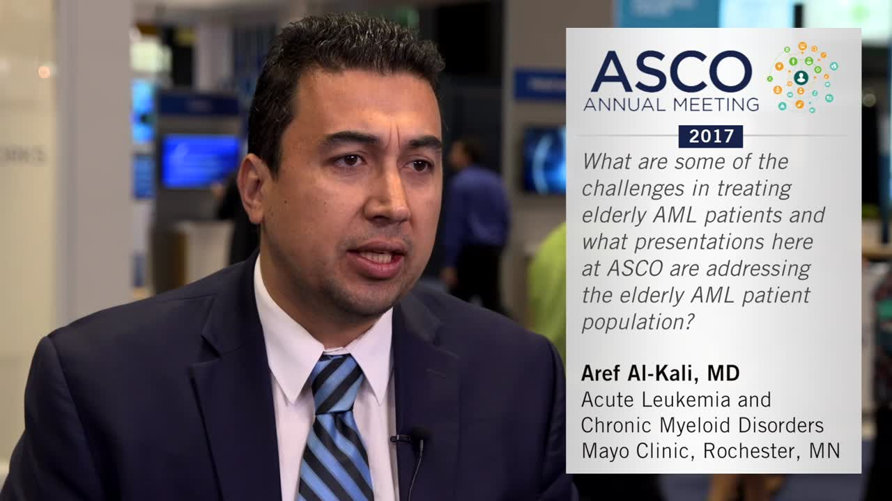 Challenges in treating elderly AML patients and what presentations are addressing elderly AML patient population