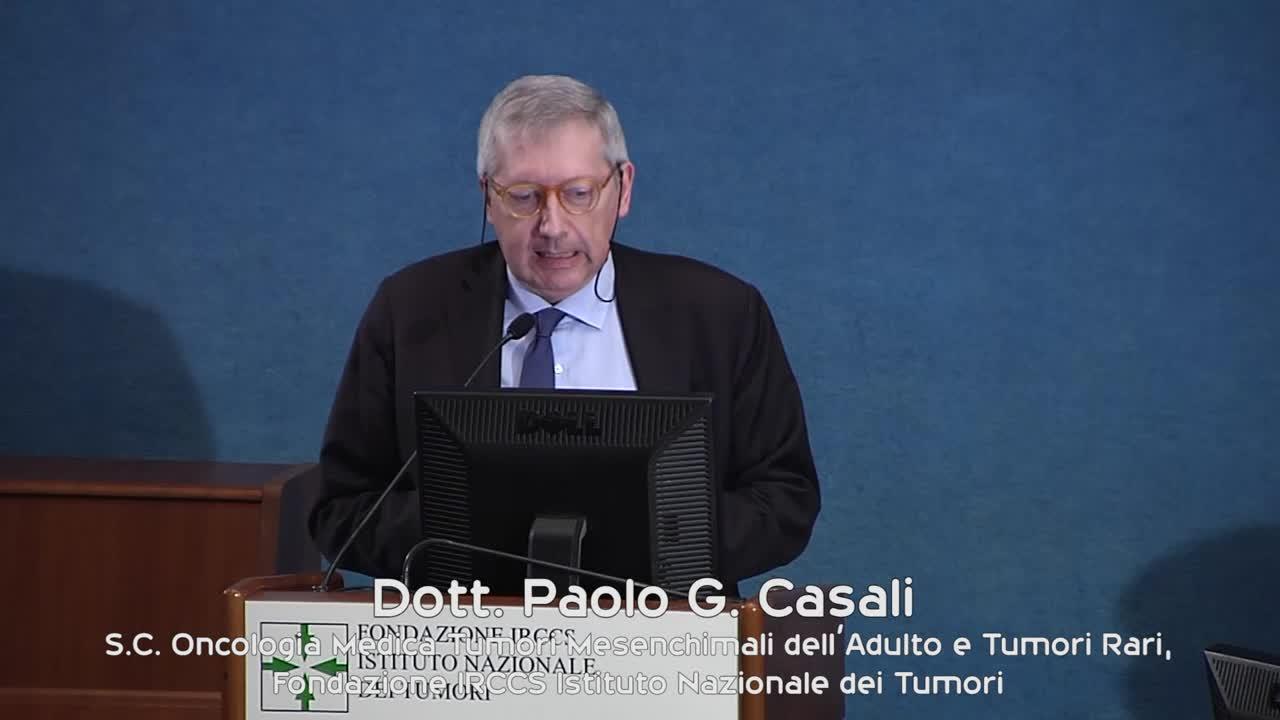 Milano 16 aprile 2016: Dott. Paolo G. Casali, S.C. Oncologia Medica Tumori Mesenchimali dell'Adulto e Tumori Rari, Fondazione IRCCS Istituto Nazionale dei Tumori