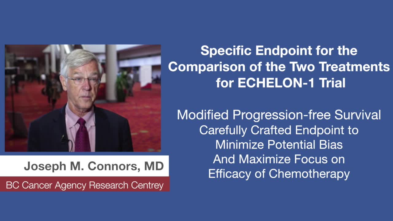Specific Endpoint for the Comparison of the Two Treatments for ECHELON-1 Trial