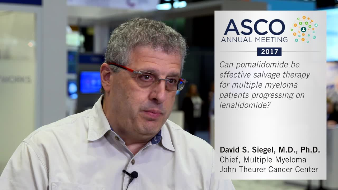 Can pomalidomide be effective salvage therapy for multiple myeloma patients progressing on lenalidomide?
