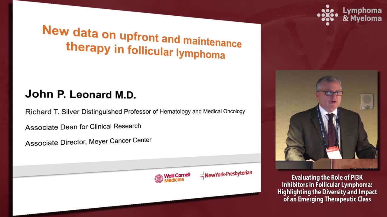 New data on upfront and maintenance therapy in follicular lymphoma