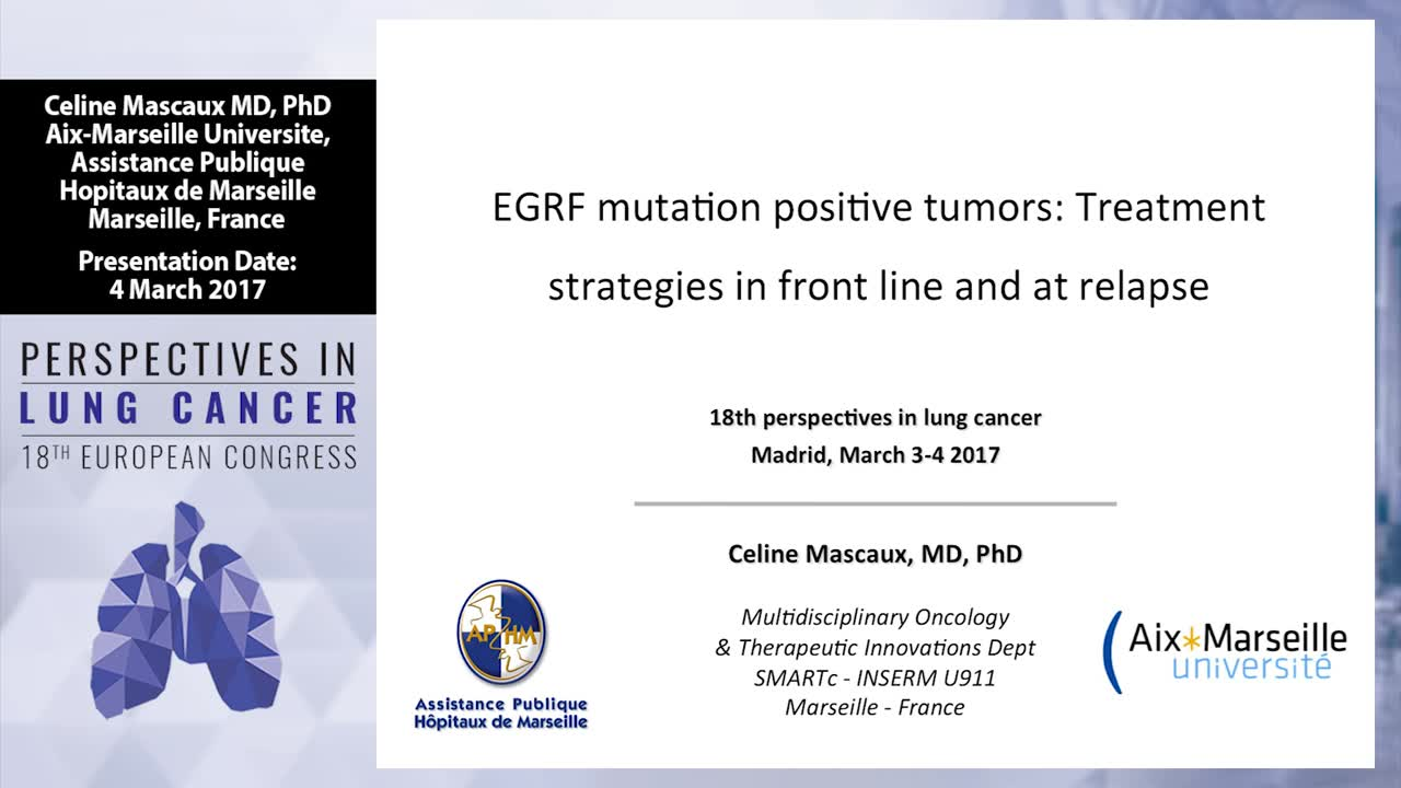 EGFR mutation positive tumors: Treatment strategies in front line and at relapse