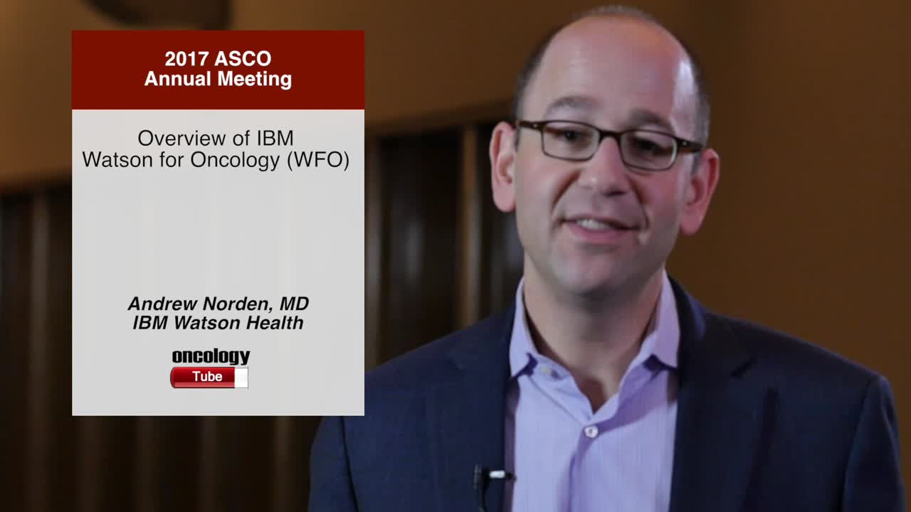 Overview of IBM Watson for Oncology (WFO)