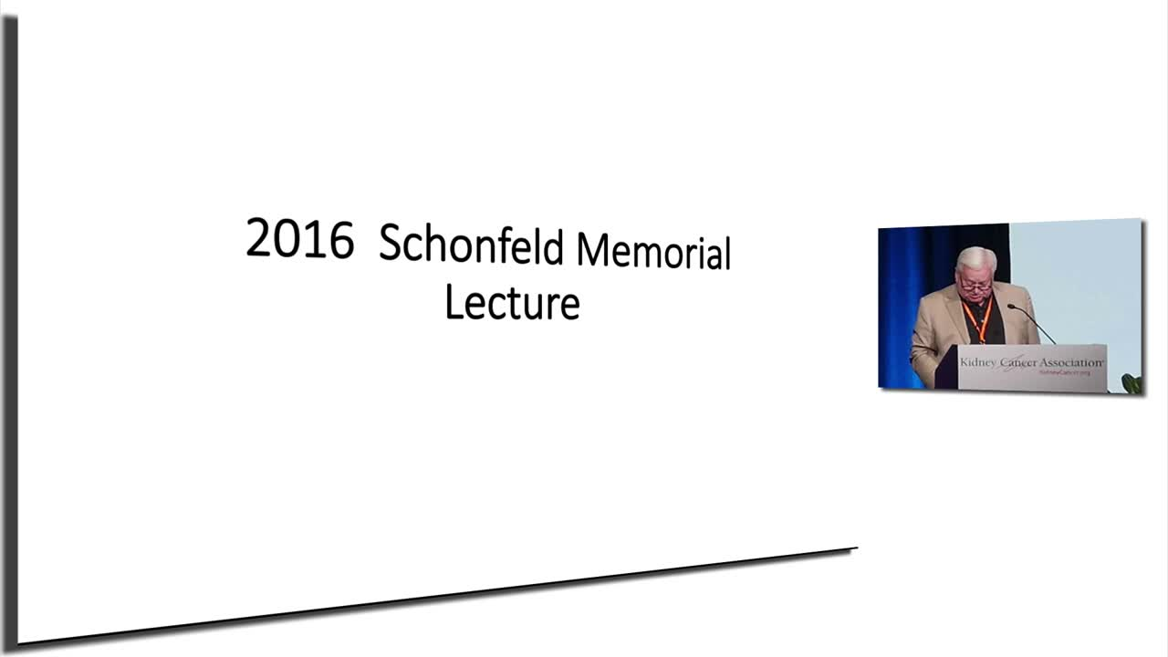 """Eugene P. Schonfeld Lecture   """"my RCC and non-RCC life path"""""""
