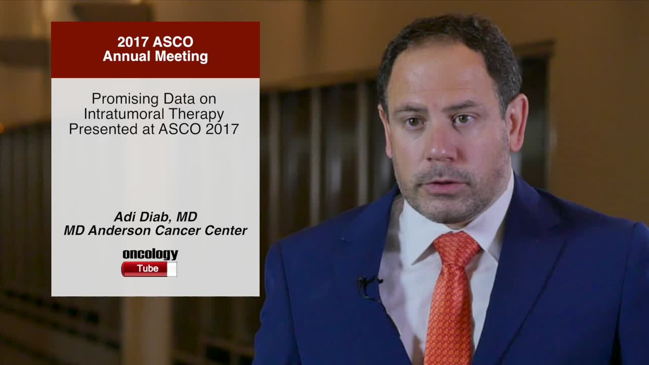 Promising Data on Intratumoral Therapy Presented at Annual Meeting 2017