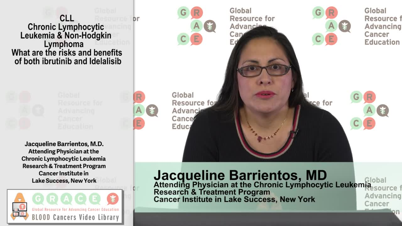 CLL and Non-Hodgkin Lymphoma, What are the risks and benefits of both ibrutinib and Idelalisib