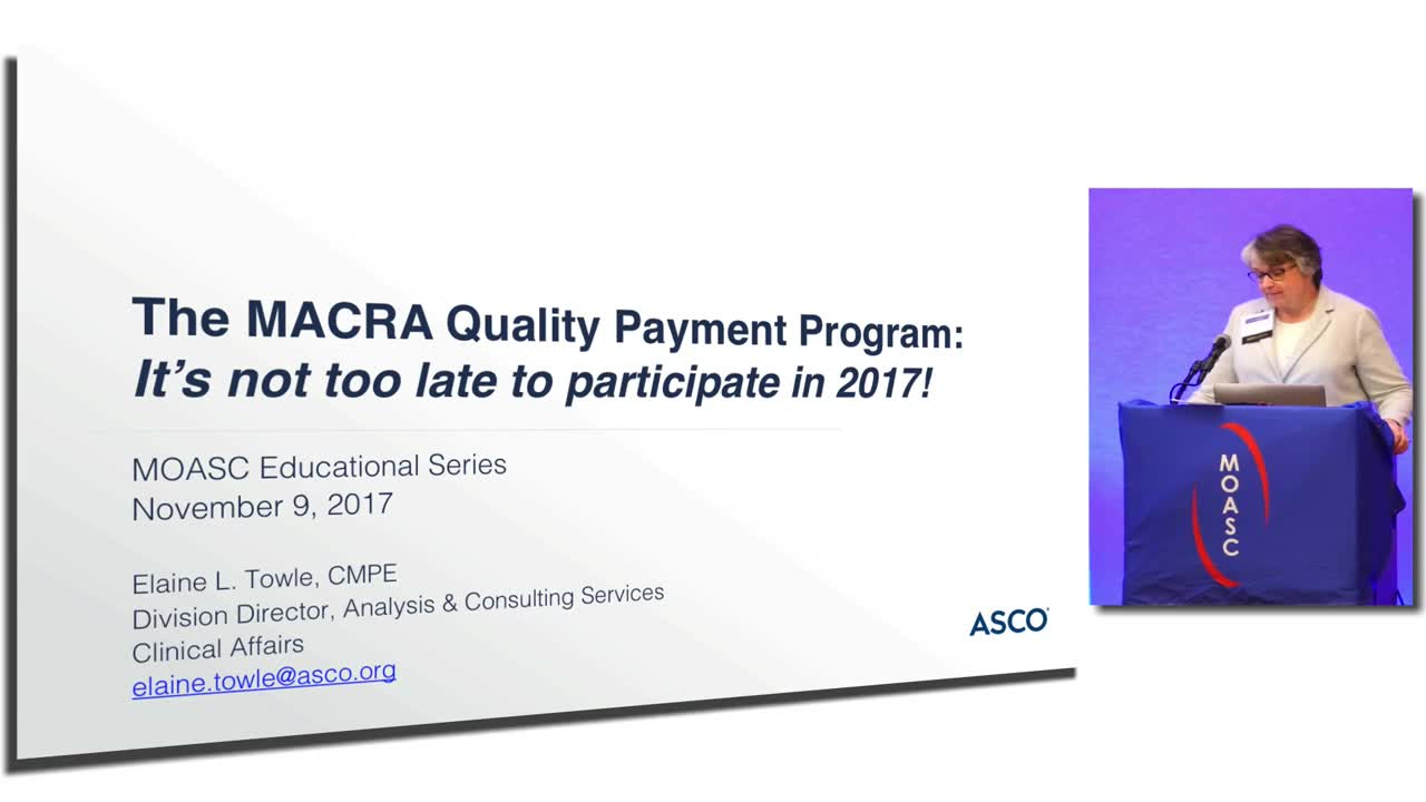 Oncology Billing Update:  What's new for 2018? MACRA and MIPS
